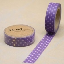 washi tape Lola violeta. 15 mm x 10 m.