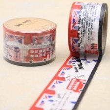 washi tape, UK bus. 3 cms x 10 m