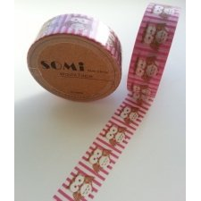 Washi tape Buho rosa. 15 mm x 10 m.