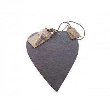 Pizarra de piedra, corazón. 30 cms
