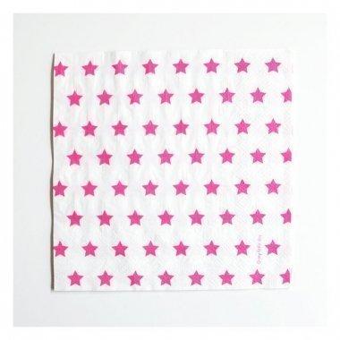 20 Servilletas estrella rosa fucsia