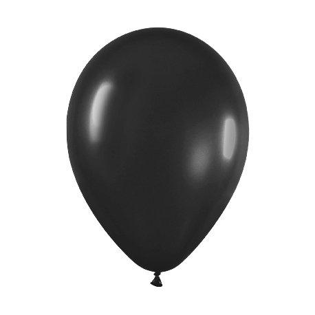 10 Globos 30 cms. Negro