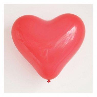 10 Globos 40 cms. Corazón rojo