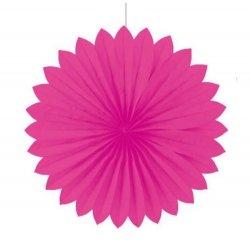 Abanico de papel, Rosa fucsia. 35 cms