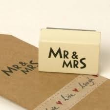Sello de caucho Mr & Mrs.