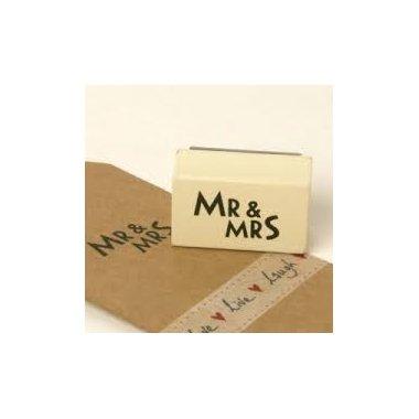 Sello de caucho Mr & Mrs.