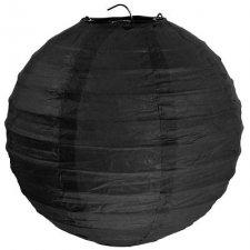 Lámpara / farol de papel negro 50 cms