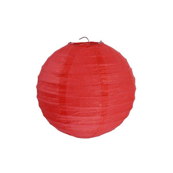 2 Lámparas / farol de papel rojo 30 cms