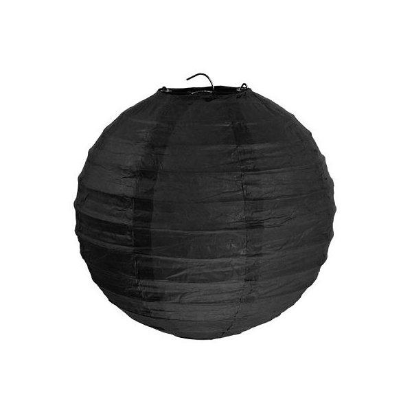 2 Lámparas / farol de papel negro 30 cms