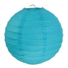 2 Lámparas / farol de papel azul 20 cms