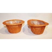 2 cestos / maceteros ábaca naranja