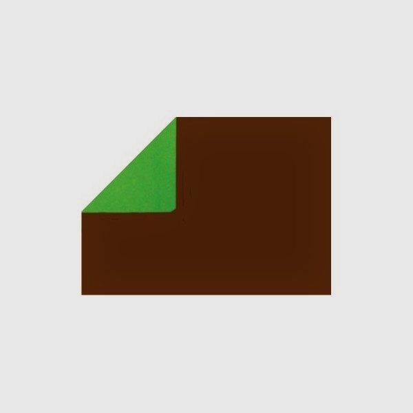 Bobina de papel regalo, doble cara marrón / verde