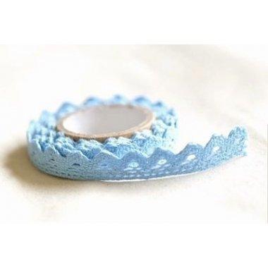 Lace tape - puntilla adhesiva. Crochet azul bb. 15mmx2m. Aprox