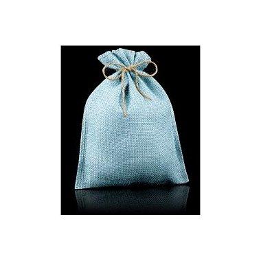 10 Sacos de yute / esterilla azul claro.