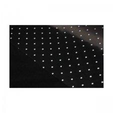 Bobina de polipropileno transparente, lunares, varios colores. 70 cms x 50 m
