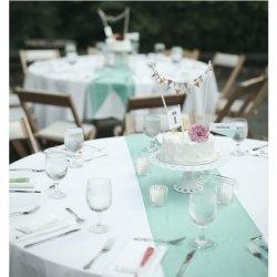 Camino de mesa mint-turquesa. 30 cms x 5 m