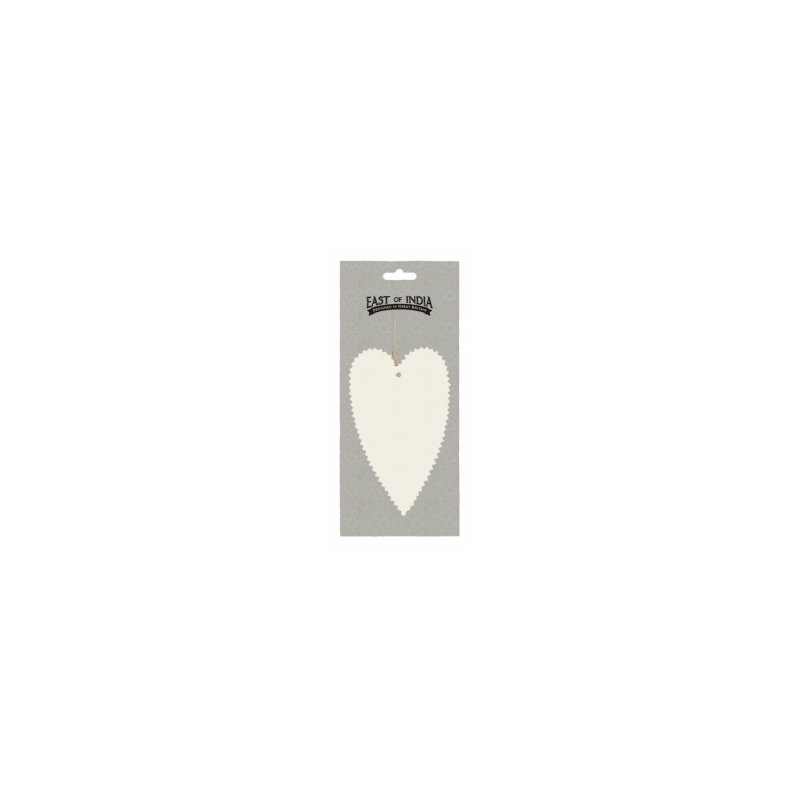 6 Etiquetas colgantes corazón marfil