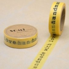 Washi tape HAND MADE WITH LOVE. 15 mm x 10 m.