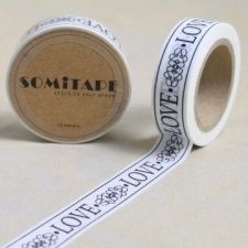 Washi tape VINTAGE LOVE. 15 mm x 10 m. AGOTADO TEMPORALMENTE