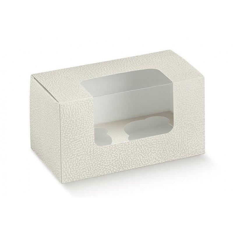 5 Cajas para 2 cup cakes. Piel blanco