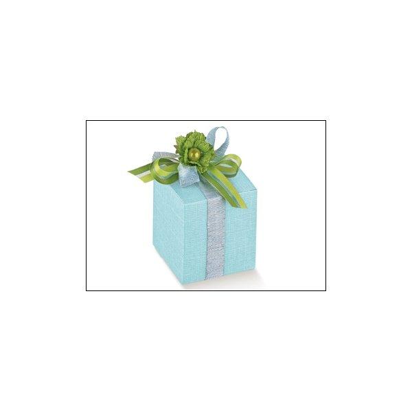 25 Cajas de regalo cuadradas, azul claro 6x6x6 cms