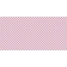 Bobina de papel regalo, rosa bebé con lunares blancos
