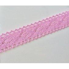 2 m. de puntilla rosa 20 mm.
