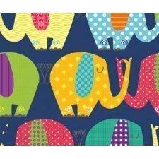 Bobina de papel de regalo, elefantes
