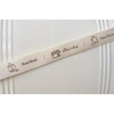 10 Metros de cinta de algodón, mod. Hand made