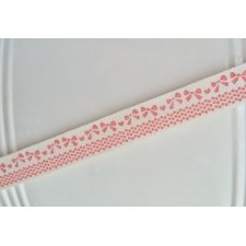 10 Metros de cinta de algodón, mod. Pink bow