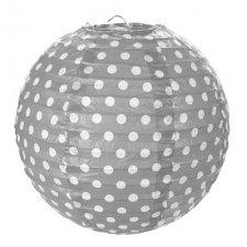 2 Bolas-lámpara-farol de papel lunares, gris
