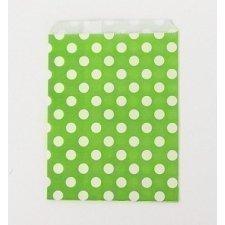 25 Sobres/bolsas de papel lunares pistacho 13x18
