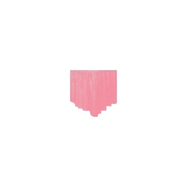 Faldón de plástico rosa
