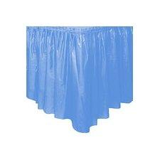 Faldón de plástico azul claro