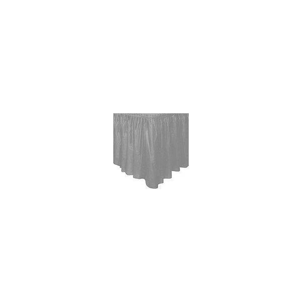 Faldón de plástico plata