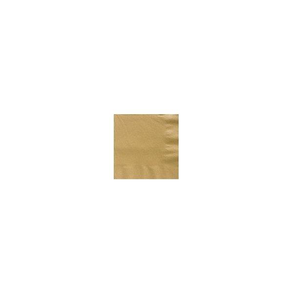 20 Servilletas de papel oro, 25X25 cms.