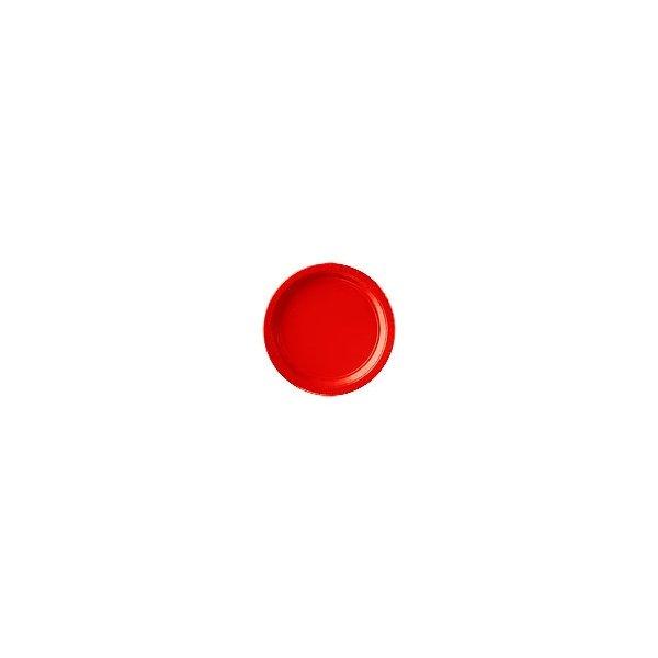 8 Platos de papel/cartón rojo