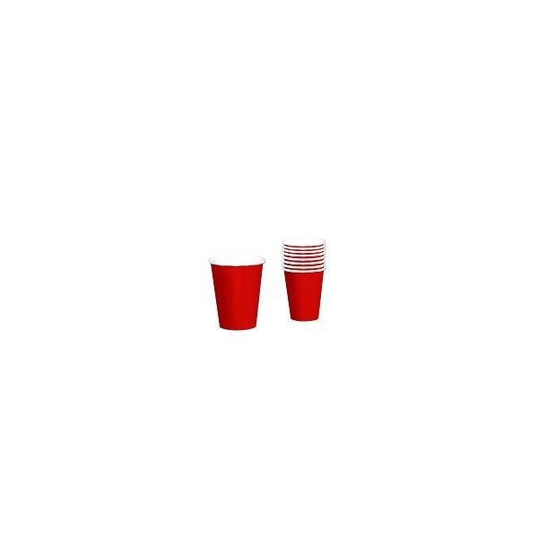8 Vasos de cartón rojo