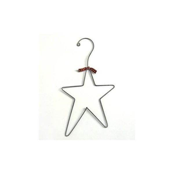 Percha de zinc en forma de estrella 28x15 cms