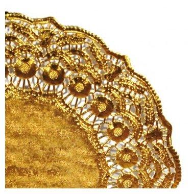 25 Blondas de papel, doradas 24 cms.