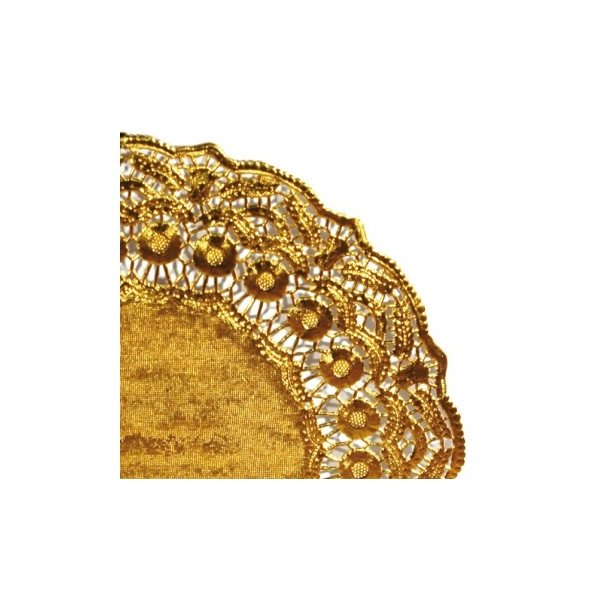 25 Blondas de papel, doradas 31 cms.