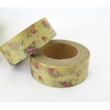 Washi tape flores vintage. 15 mm x 10 m.