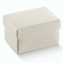 10 Cajas de regalo en cartón marfil. 13x9x4 cms