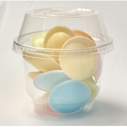 10 Tarrinas/vaso transparentes, con cúpula