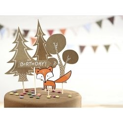 5 Toppers cumpleaños Woodland