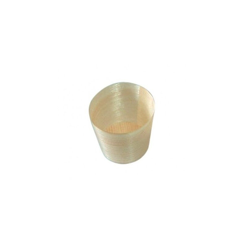 10 Vasos de madera 6x6 cms