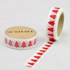 Washi tape, ABETO ROJO. 15 mm x 10 m.