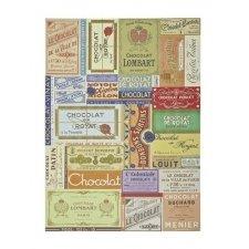 2 Hojas de papel regalo. Chocolat