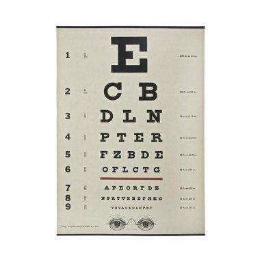2 Hojas de papel regalo. Eye chart