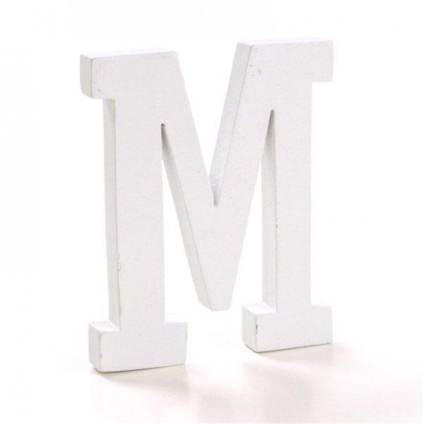 Letra de madera. M